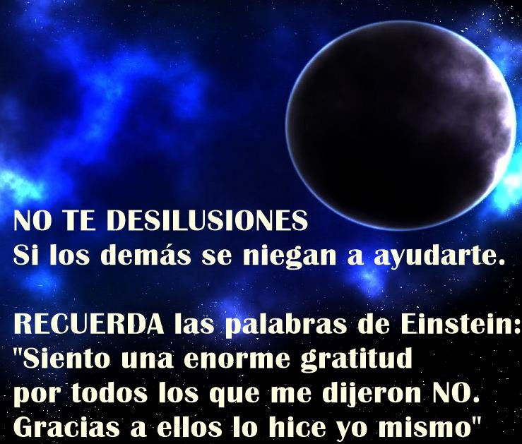 No desilusionarse